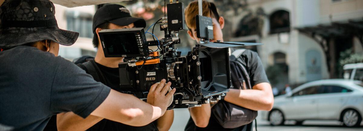 Film Crew Setting Up